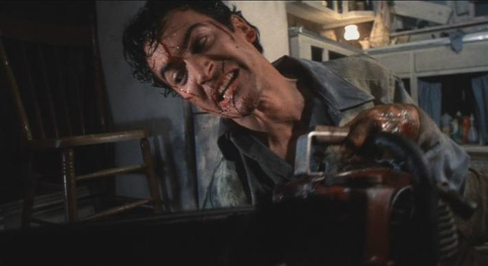 Ash Williams and his chainsaw hand