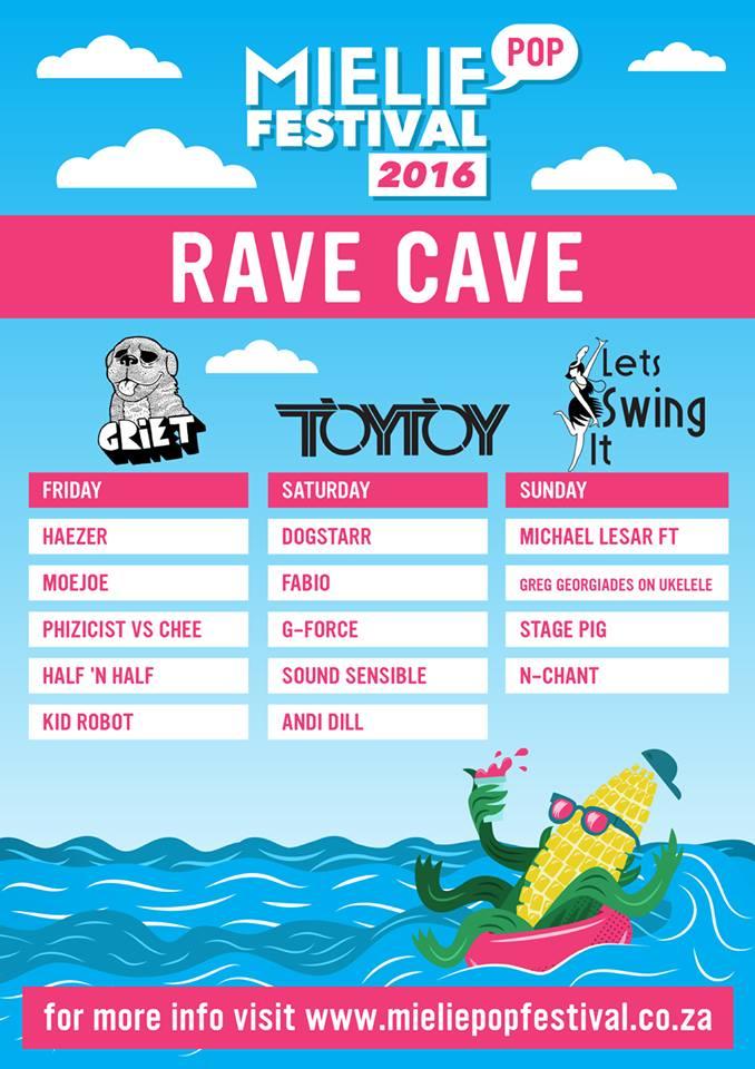 Mieliepop Rave Cave 2016