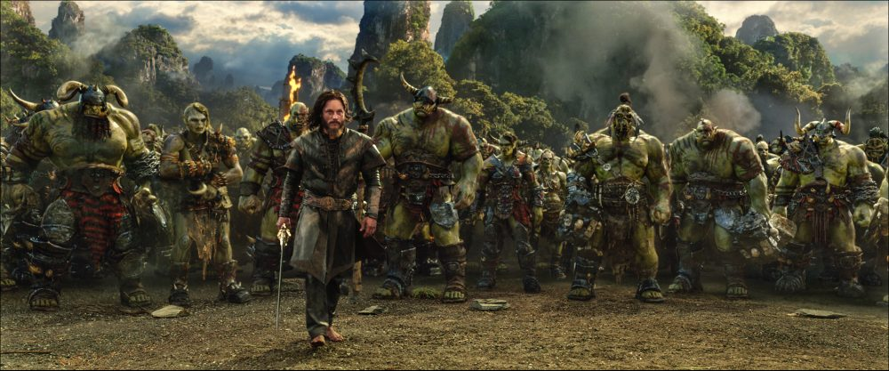 Surrounded by orcs, Commander Anduin Lothar (TRAVIS FIMMEL) knows that the battle is far from over in Warcraft. From Legendary Pictures and Universal Pictures comes Warcraft, an epic adventure of world-colliding conflict based on Blizzard Entertainment's global phenomenon. Credit: Legendary Pictures, Universal Pictures and ILM