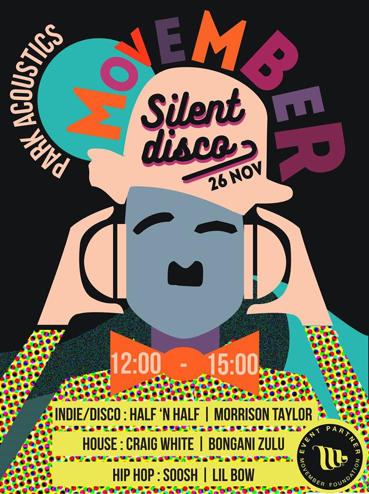 Movember Silent Disco at Park Acoustics November 2016