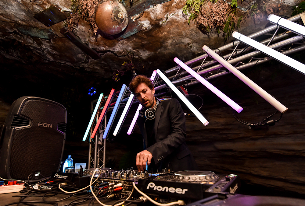 "Haezer in the ""Rave Cave"" at Mieliepop 2016. Photo by Henry Engelbrecht"