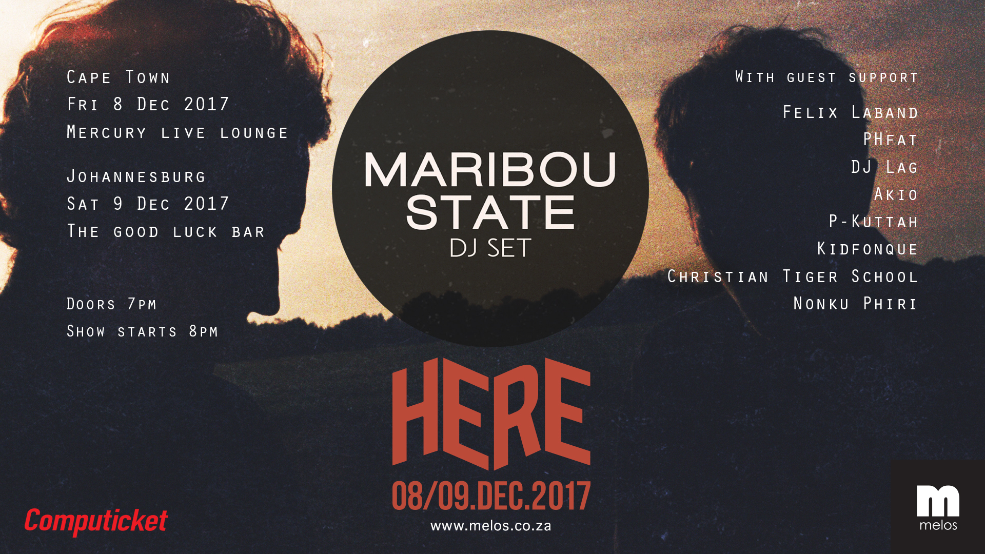 GIVEAWAY: Maribou State Live Tickets (JHB & CPT)