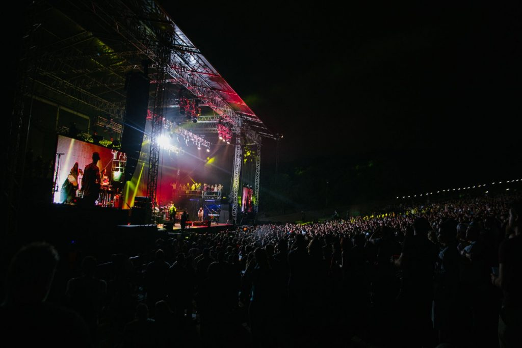 Incubus at the Voortrekker Monument, Photo by Kurt Sassenberg/UrbanPlayground. Supplied by We Are Live.