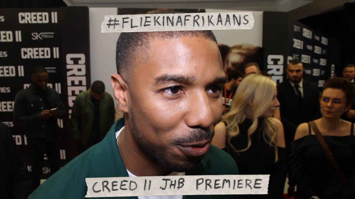 VIDEO: #FliekInAfrikaans – Creed II JHB Premiere