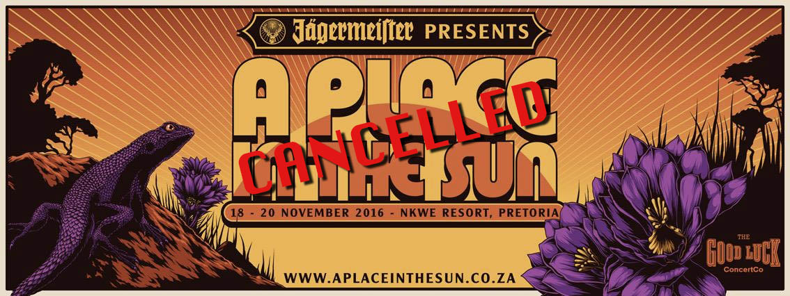 CANCELLED: A Place In The Sun festival