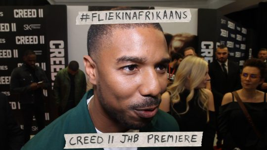 VIDEO: #FliekInAfrikaans – Creed II JHB Premiere